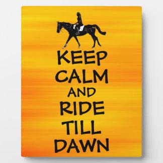 Fun Keep Calm & Ride Till Dawn Horse Display Plaques