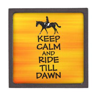 Fun Keep Calm & Ride Till Dawn Horse Premium Keepsake Boxes