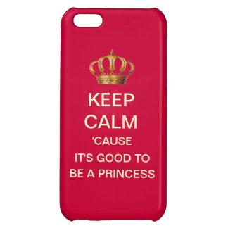 Fun Keep Calm Royal Princess iPhone Case iPhone 5C Cover
