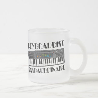 Fun Keyboardist Extraordinaire Music Gift Frosted Glass Coffee Mug