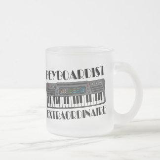 Fun Keyboardist Extraordinaire Music Gift Frosted Glass Coffee Mug