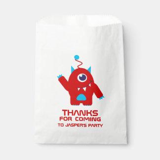 Fun kids alien birthday party favor bags