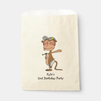 fun kid's baseball game birthday party favor bag