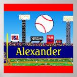 Fun Kids Baseball Personalized Poster Art Gift