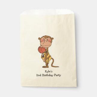 fun kid's basketball game birthday party favor bag