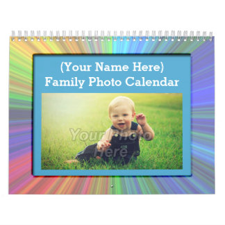 Fun Kids Family Custom Photo Wall Calendar