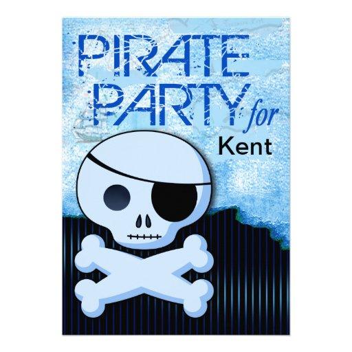 "Fun Kids Pirate Boy - ""Pirate Baby!"" Party Invites"