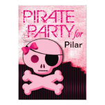 "Fun Kids Pirate Girl - ""Pirate Baby!"" Party 5"" X 7"" Invitation Card"
