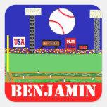 Fun Kids Sport Personalized Baseball Stickers Gift
