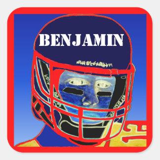 Fun Kids Sport Personalized Football Stickers Gift