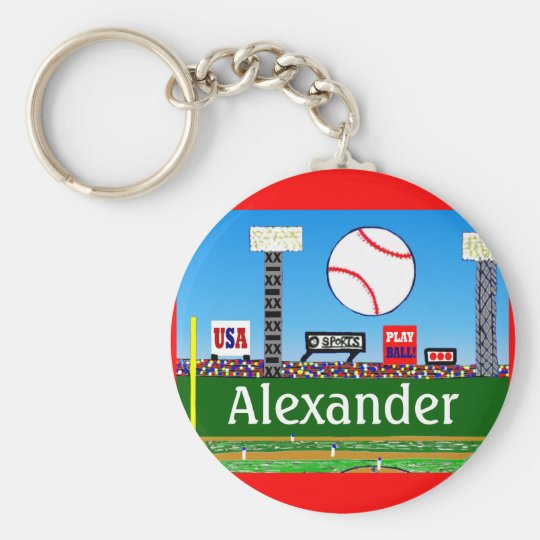 Fun Kids Sports Baseball Keychain Party Favor Gift