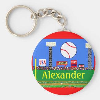 Fun Kids Sports Baseball Keychain Party Favor Gift