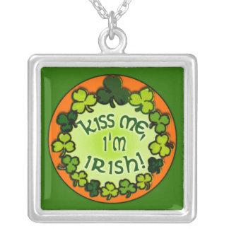 Fun Kiss Me I'm Irish Necklace