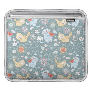 Fun Kitty Cat Pattern Sleeve For iPads