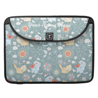 Fun Kitty Cat Pattern Sleeves For MacBook Pro