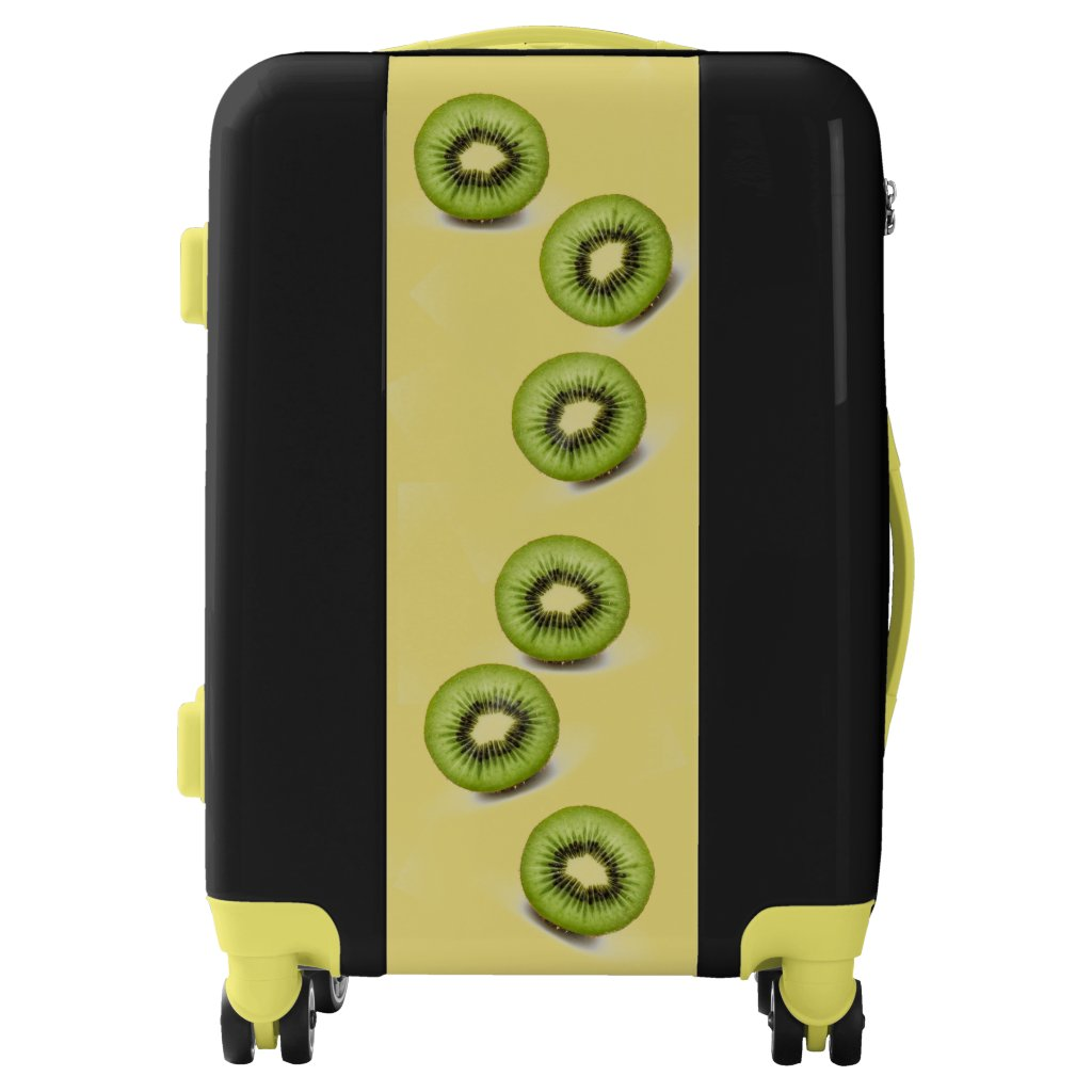 Kiwi Slices Design Suitcase
