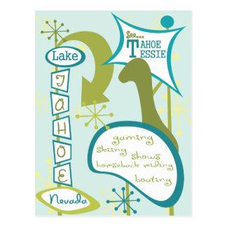 Fun Lake Tahoe Illustration Postcard