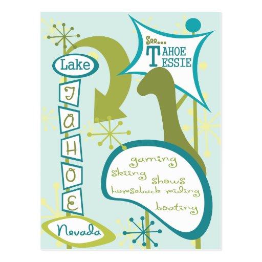 Fun Lake Tahoe Illustration Post Card