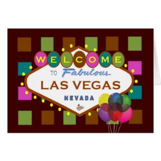 Fun Las Vegas Party Card with balloons!