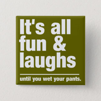 FUN & LAUGHS custom color button