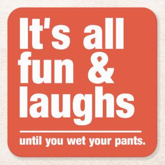 FUN & LAUGHS custom color coasters