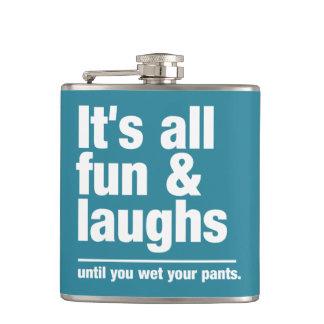 FUN & LAUGHS custom color flask