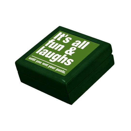 FUN & LAUGHS custom color gift / trinket box