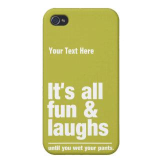 FUN & LAUGHS custom color iPhone cases