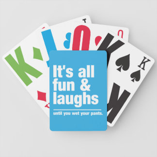 FUN LAUGHS custom color playing cards