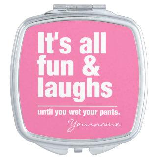 FUN & LAUGHS custom color pocket mirror