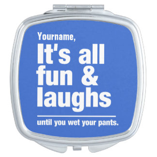 FUN & LAUGHS custom color pocket mirror Mirrors For Makeup