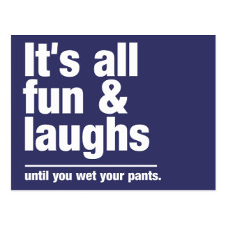 FUN & LAUGHS custom color postcard