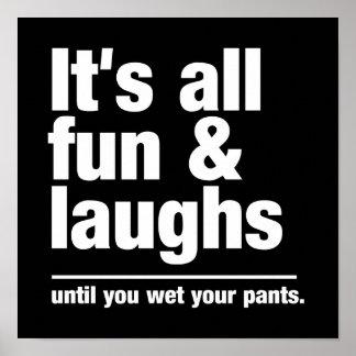 FUN & LAUGHS custom color poster