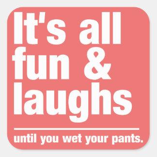 FUN & LAUGHS custom color stickers
