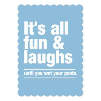 FUN & LAUGHS custom invitations 13 Cm X 18 Cm Invitation Card