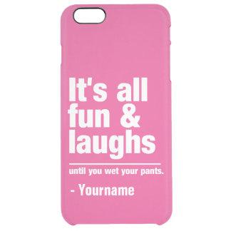 FUN & LAUGHS custom name & color cases