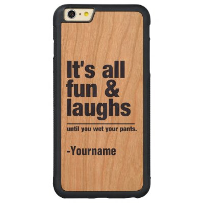 FUN & LAUGHS custom name & color cases