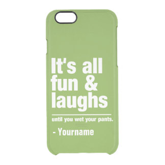 FUN & LAUGHS custom name & color cases Uncommon Clearly™ Deflector iPhone 6 Case