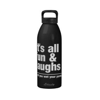 FUN & LAUGHS water bottle - choose color