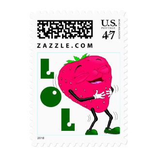 Fun Lauging Strawberry LOL Anthropomorphic Stamps