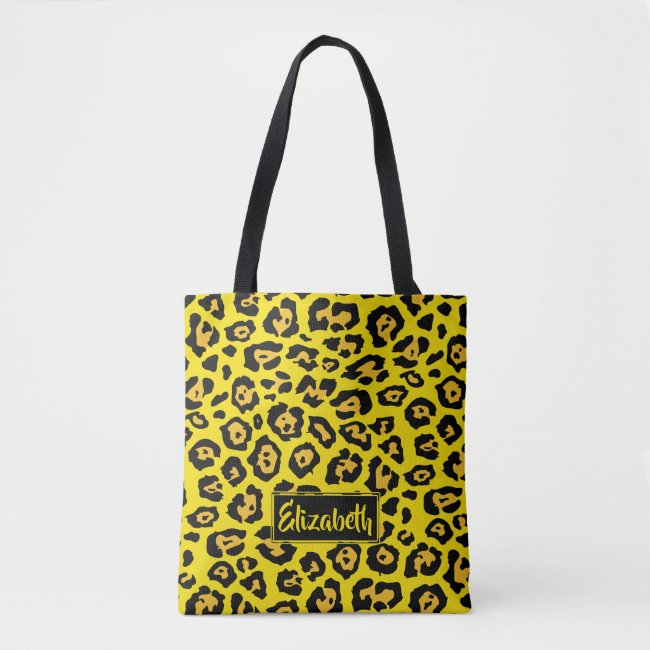Fun Leopard Pattern and Name
