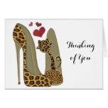 Fun Leopard Stiletto and Cat Cards
