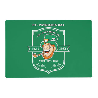 Fun Leprechaun St. Patrick's Day Party Placemats