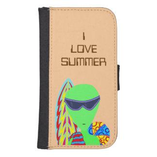 Fun LGM Alien I Love Summer Fun Geek Phone Wallet