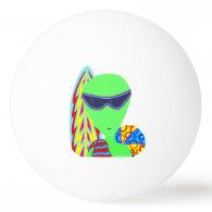 Fun LGM Alien Vacation Geek Humor Ping-Pong Ball