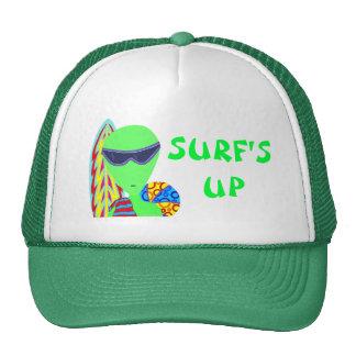 Fun LGM Alien Vacation Geek Surf's Up Cap Trucker Hat