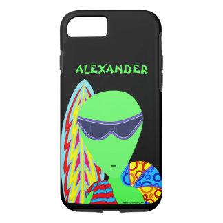 Fun LGM Alien Vacation ifone7 Geek Humor iPhone 7 Case
