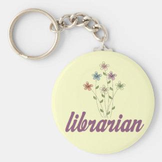Fun Librarian Basic Round Button Keychain