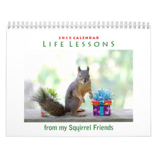 Fun Life Lessons Squirrel Calendar 2015