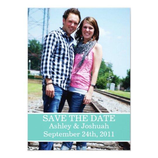 Fun Light Blue Design Save The Date Invites